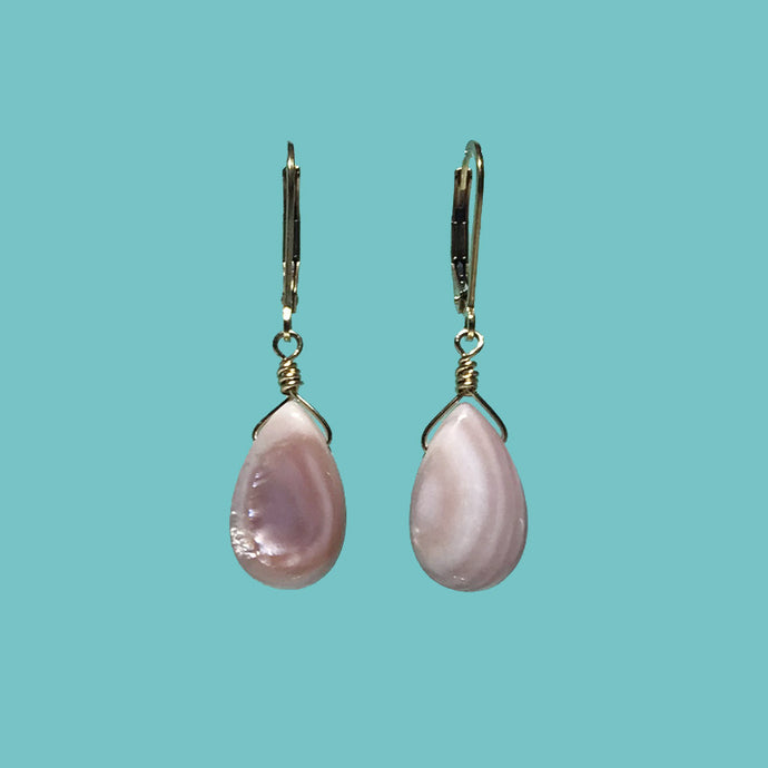 [SURF JEWELLERY] Pink Shell Drop (2-2-A)