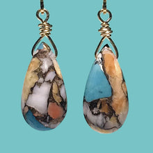 Load image into Gallery viewer, [SURF JEWELLERY] Oyster Copper Turquoise Drop (3-5-A)