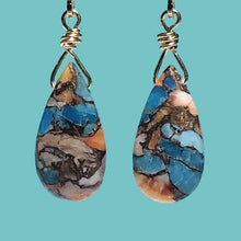 Load image into Gallery viewer, [SURF JEWELLERY] Oyster Copper Turquoise Drop (3-5-B)