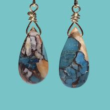 Load image into Gallery viewer, [SURF JEWELLERY] Oyster Copper Turquoise Drop (3-5-C)