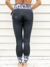Load image into Gallery viewer, [ĀKĀSHA] High-Waist Water Leggings (Black)