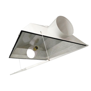 Extra Large Air Cooled with 6 in. Duct and Glass Panel Grow Light Reflector for up to 1000-Watt