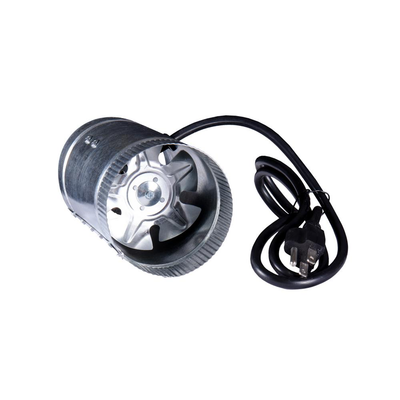 100 CFM 4 in. Inline Duct Booster Fan for Indoor Garden Ventilation