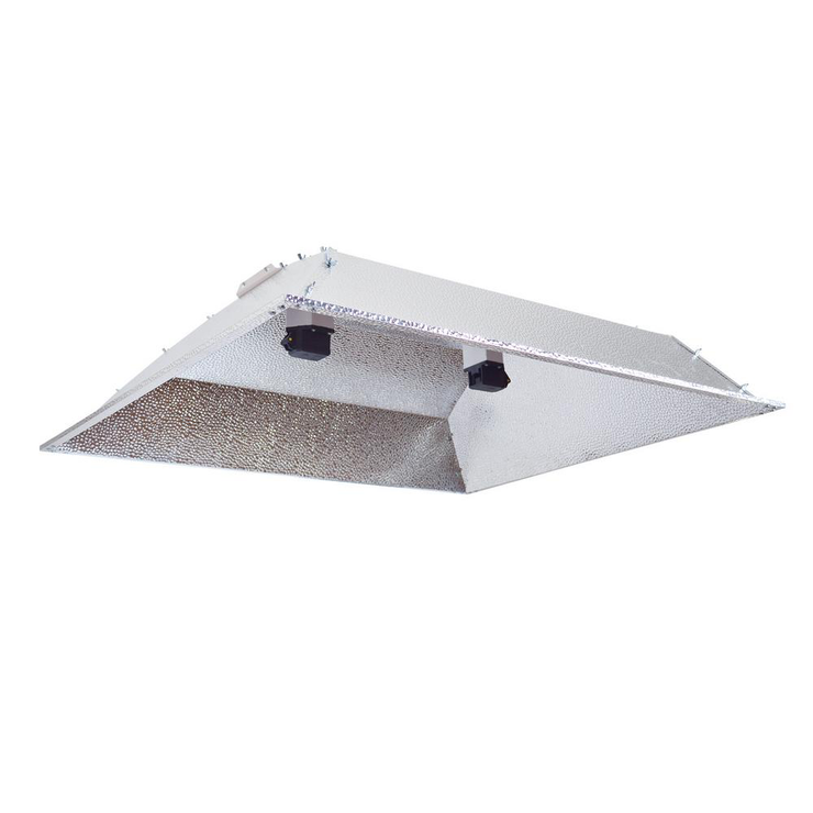 Double Ended DE XXL Open Hood Grow Light Reflector with Socket and Cord for up to 1000-Watt