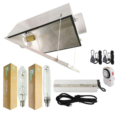 1000-Watt HPS/MH Grow Light System with 6 in. Large Air Cooled Reflector with Glass
