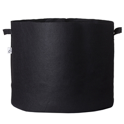 Hydro Crunch 23.25 in. x 22 in. 45 Gal. Breathable Fabric Pot Bag with Handles Black Felt Grow Pot