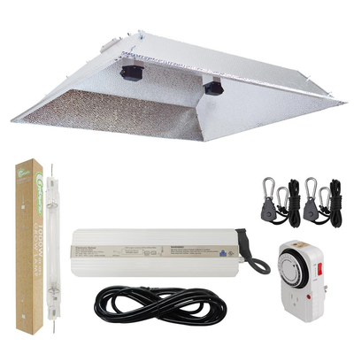 1000-Watt Double Ended HPS 120/240-Volt Grow Light System with DE XXL Open Hood Grow Light Reflector