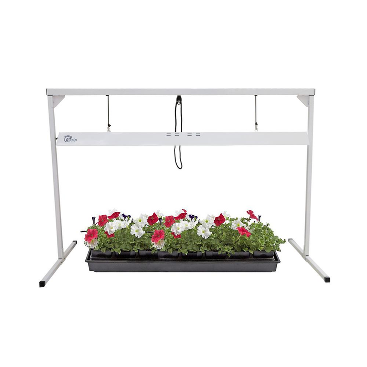 T5 4 ft. 1 Lamp 54-Watt Steel White Powder Coated Light Stand with Fluorescent Grow Light Fixture
