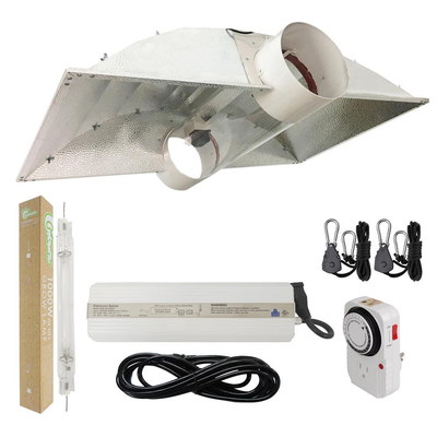 1000-Watt Double Ended HPS 120-Volt/240-Volt Grow Light System with DE 8 in. Cool Tube Hood Grow Light Reflector