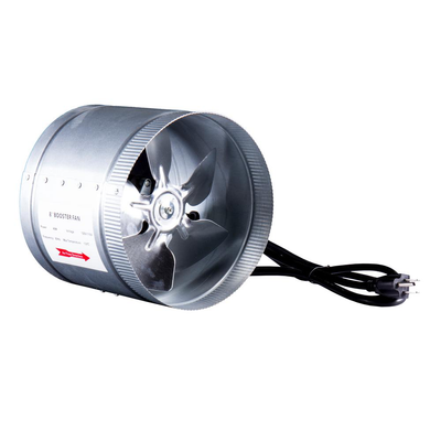 420 CFM 8 in. Inline Duct Booster Fan for Indoor Garden Ventilation