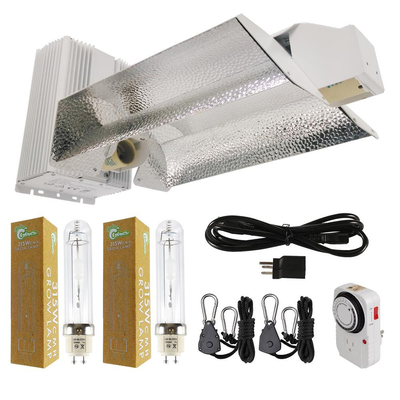 630-Watt Ceramic Metal Halide CMH Dual Lamp Open Style Complete Grow Light System with Lamps