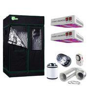 1200-Watt Equivalent Veg/Bloom Full Spectrum LED Plant Grow Light Fixture with Grow Tent and Ventilation System