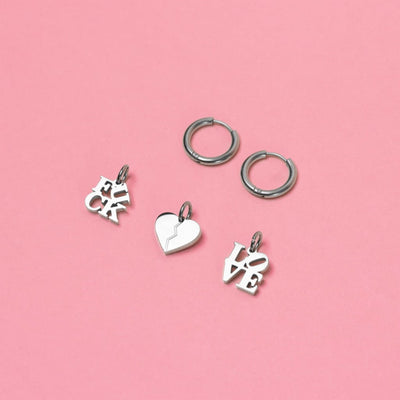 Mixed Emotions Earrings Set (Pair) Silver