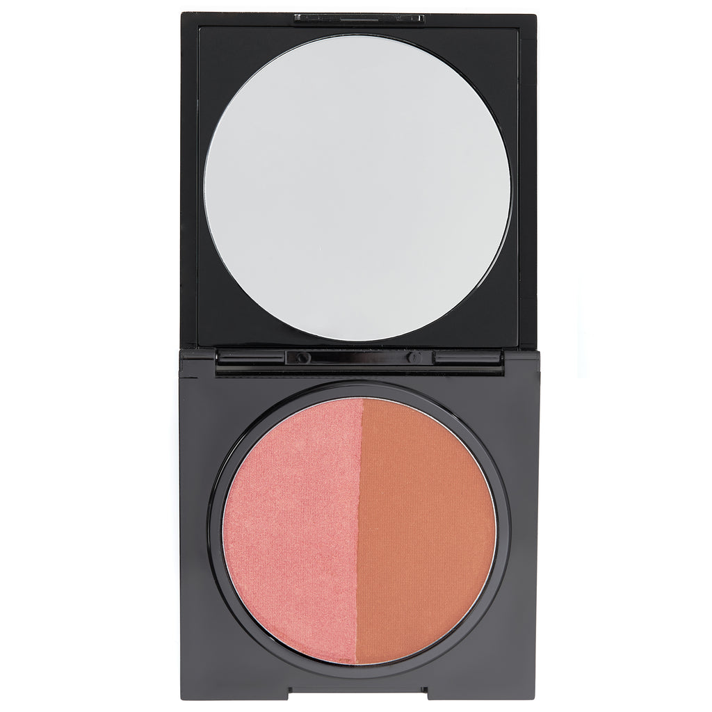 Pressed Duo Shimmer Powder - Bronzed Babe - HeyBabe Cosmetics