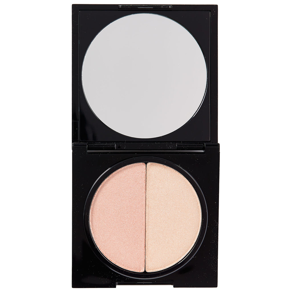 Pressed Duo Shimmer Powder - Sweetly Kissed - HeyBabe Cosmetics