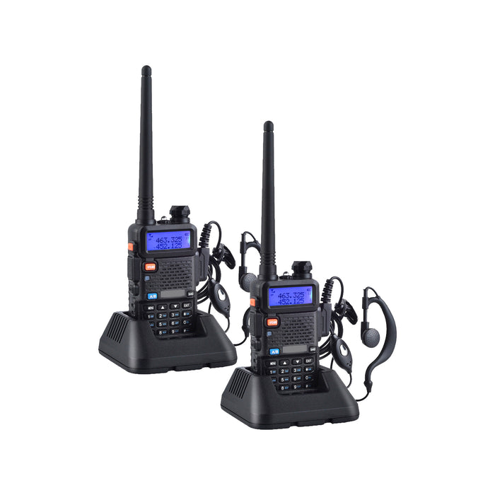 Pack 2 Radio Walkie Talkie Digital Baofeng UV-5R VHF/UHF/FM