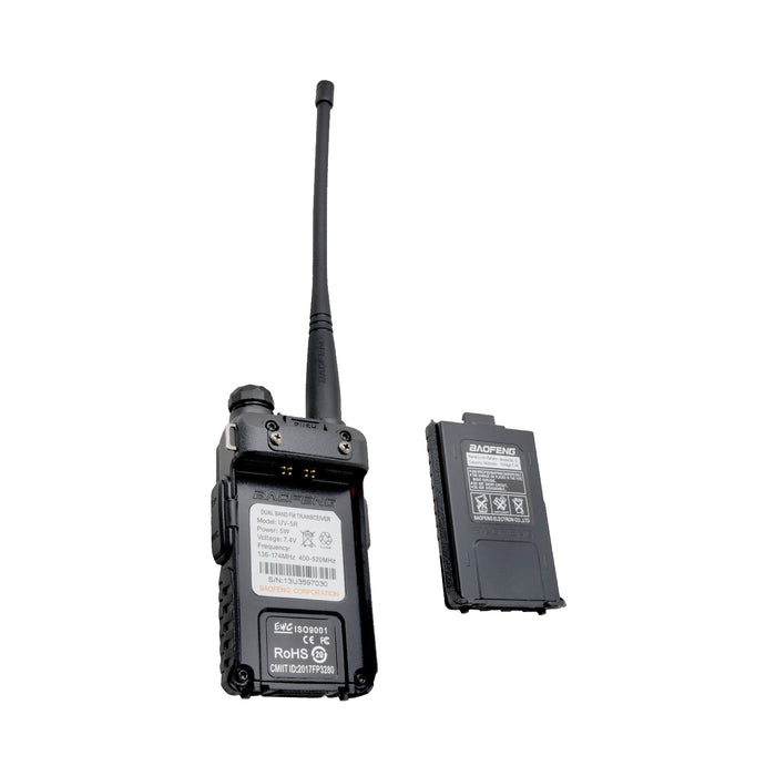Pack 4 Radio Walkie Talkie Digital Baofeng UV-5R VHF/UHF/FM