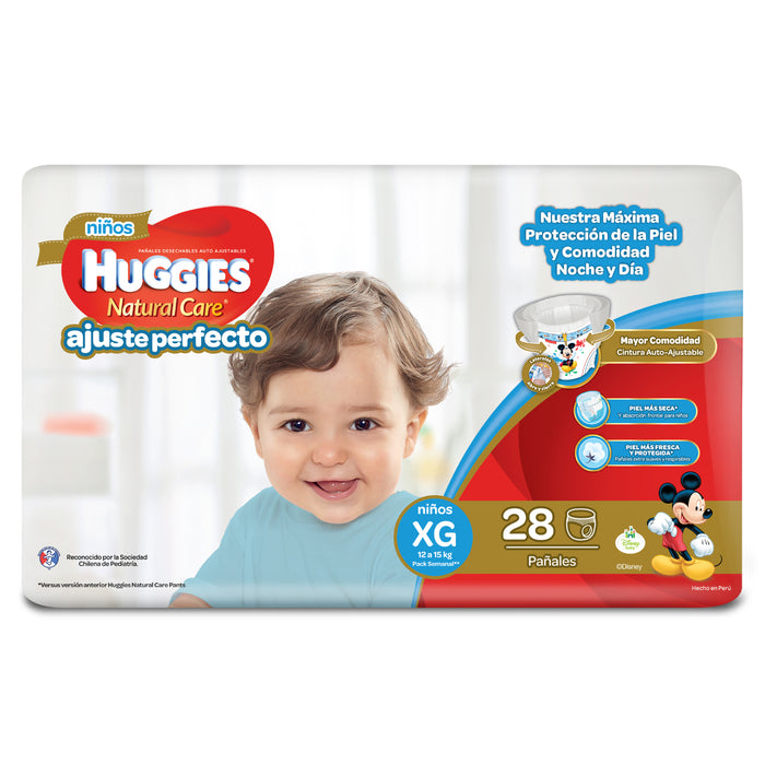 Pañales Huggies Pant Natural Care Niño 28 Un. Talla XG