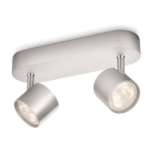 Aplique de techo Lampara Philips Star LED 2x4 Watts Gris