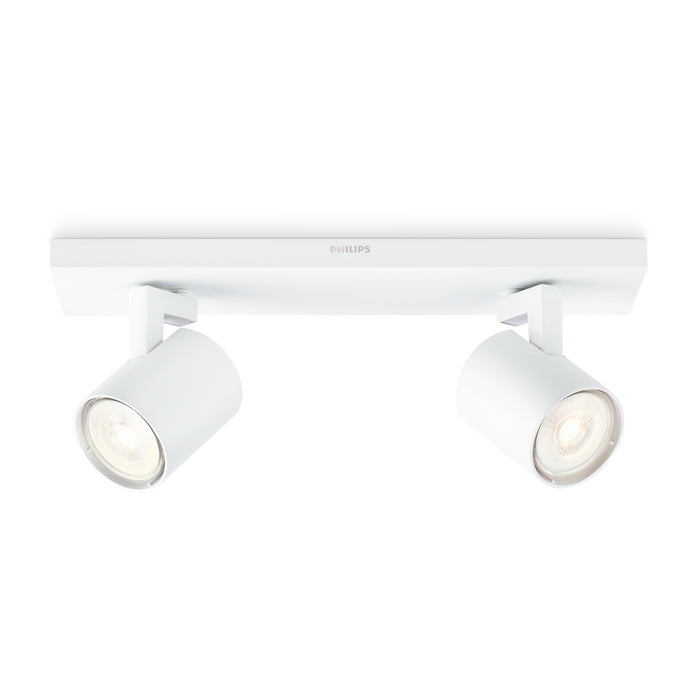 Aplique de Techo Philips Runner 2 Spots Max 100W Blanco