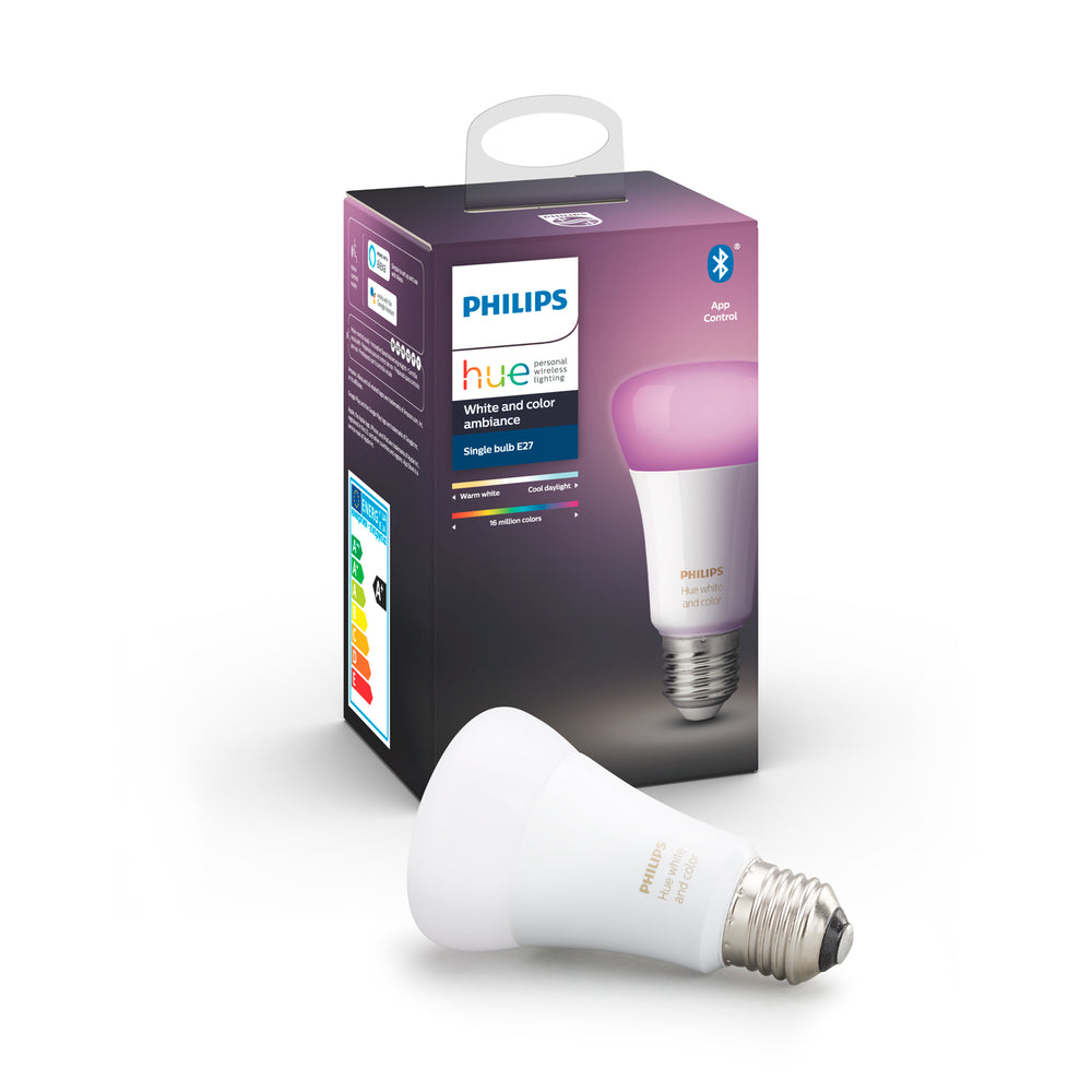 Ampolleta LED Philips Hue 9W E27 Colores Bluetooth y Zigbee