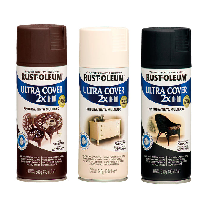 Pintura Aerosol Rust-Oleum Ultra Cover 2X Color Satinado