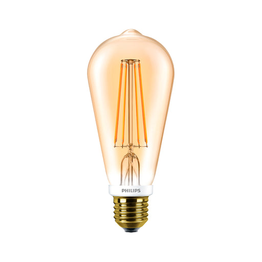 Ampolleta Led Philips Vintage Valvula Calida Dorada 7w-50w
