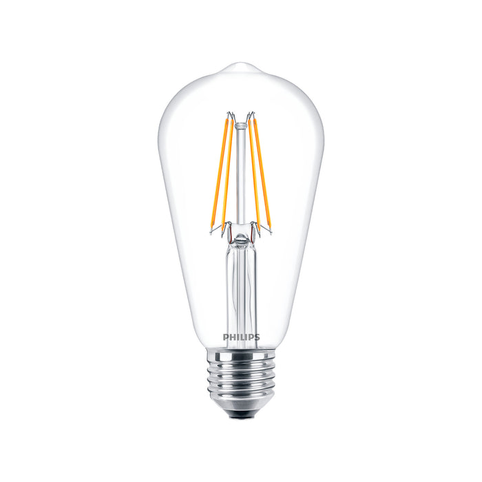 Ampolleta LED Philips Vintage Valvula Calida Cristal 6W-60W