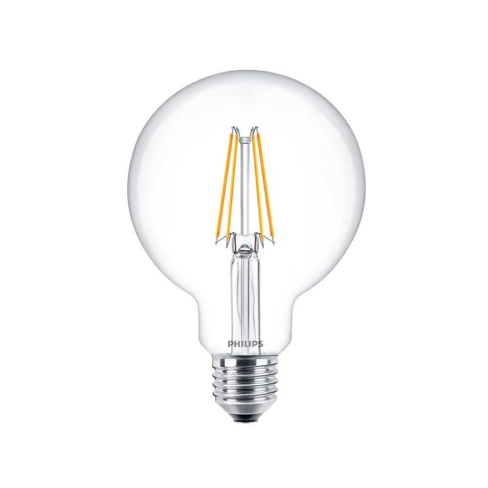 Ampolleta LED Philips Vintage Globo Calida Cristal 6W-60W