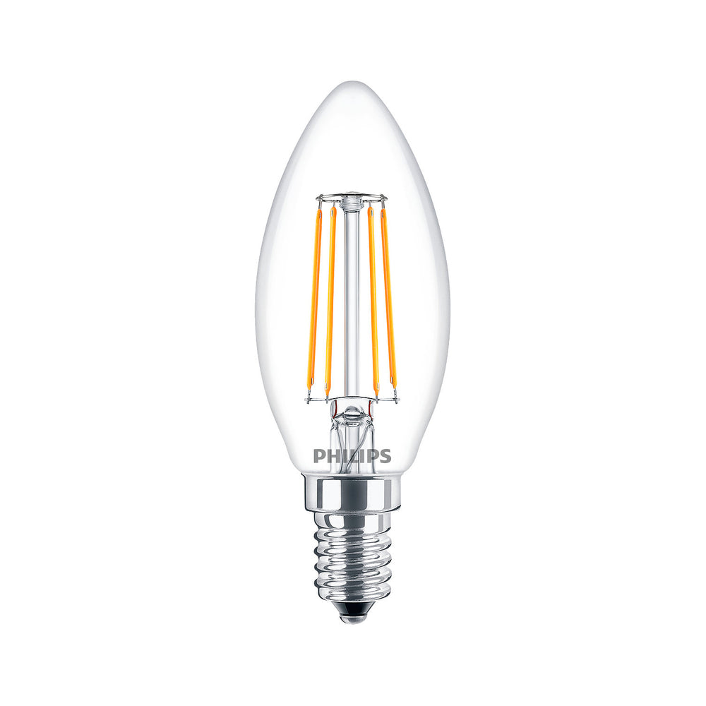 Ampolleta LED Philips Vintage Vela Calida Cristal E14 4W-40W