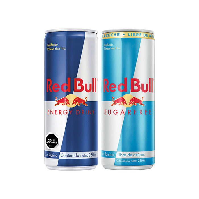 Bebida Energetica Red Bull Mix de Reg y SF 12 Latas De 250ml