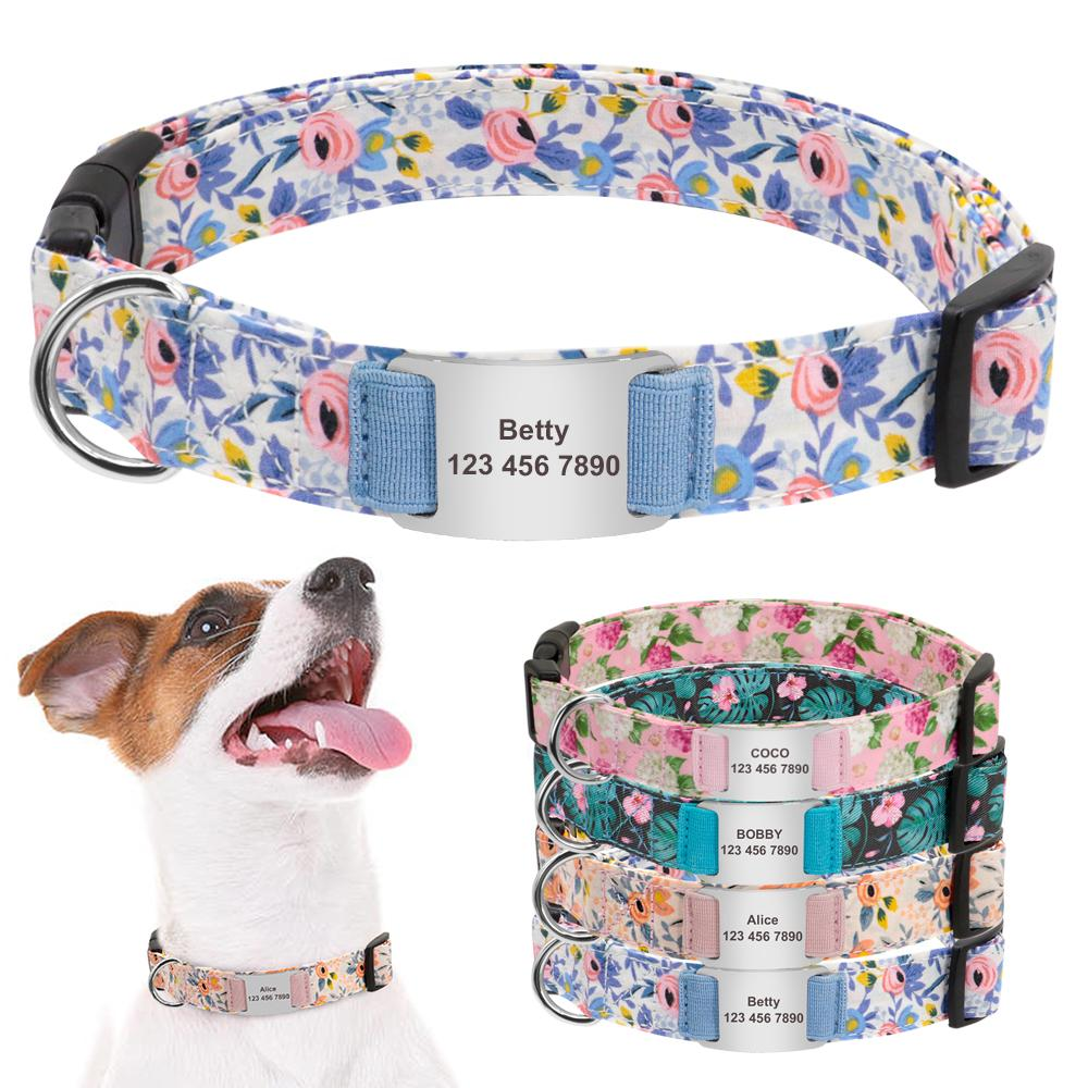 Corteza y Flor Girly Collar de Perro - Shop & Dog