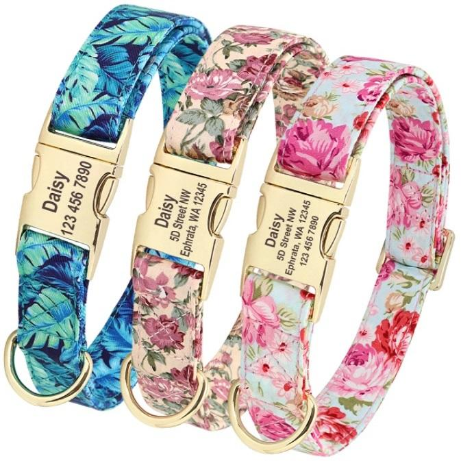 Floral Print Dog Collar-Shop & Dog