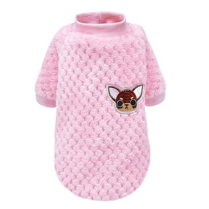 Fuzzy Fleece Embroidered Chihuahua Sweater - Shop & Dog