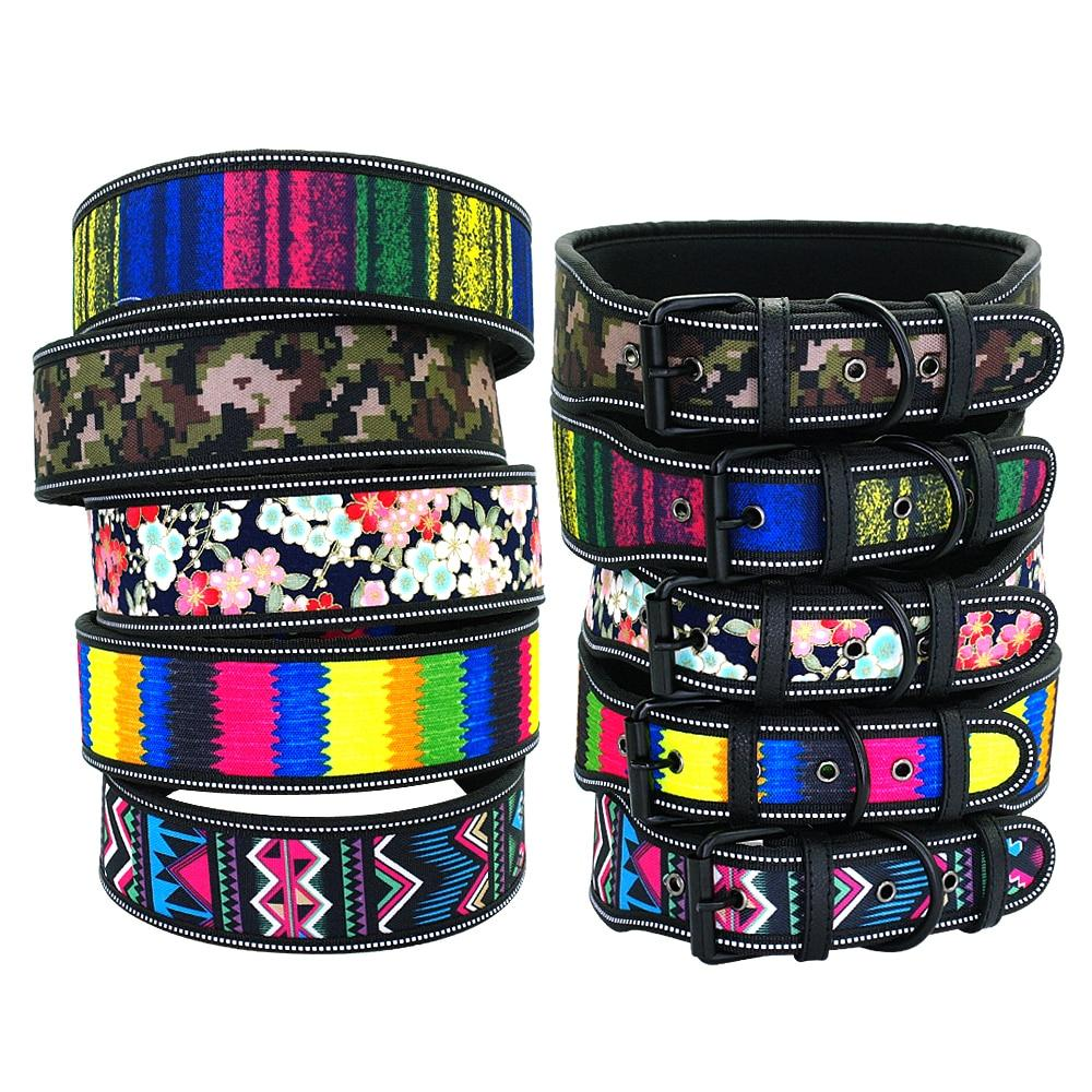 Glam Extra Wide Printed Dog Collar - Shop & Dog