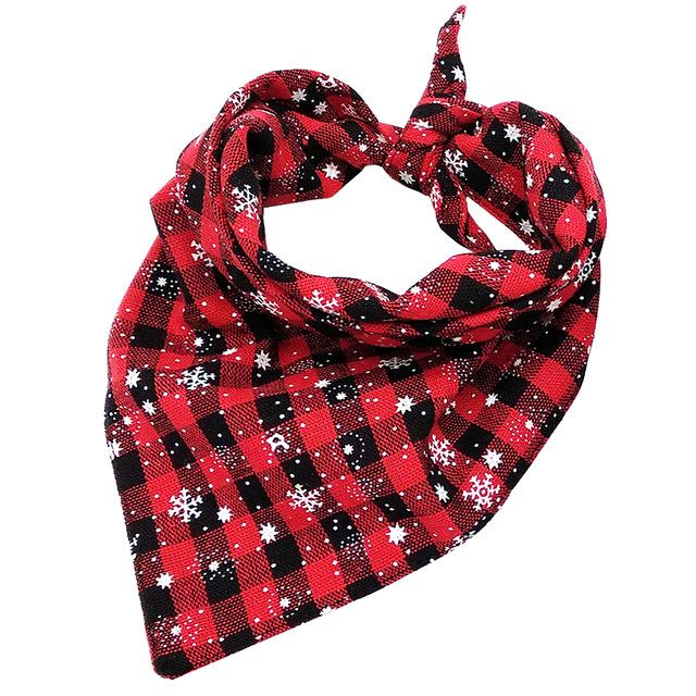 Lookin' Dashing In The Snow - Plaid Christmas Bandana - Shop & Dog