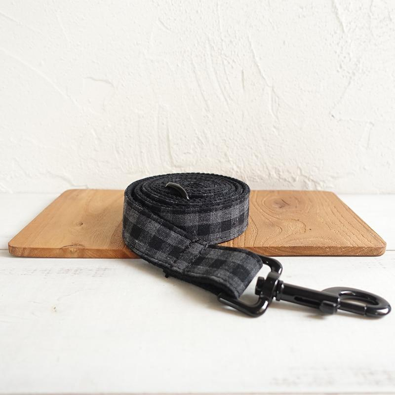 The Black Plaid Personalised Dog Collar - Shop & Dog
