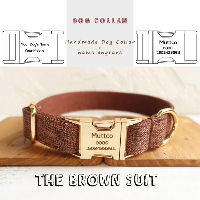 The Brown Suit Personalised Dog Collar - Shop & Dog