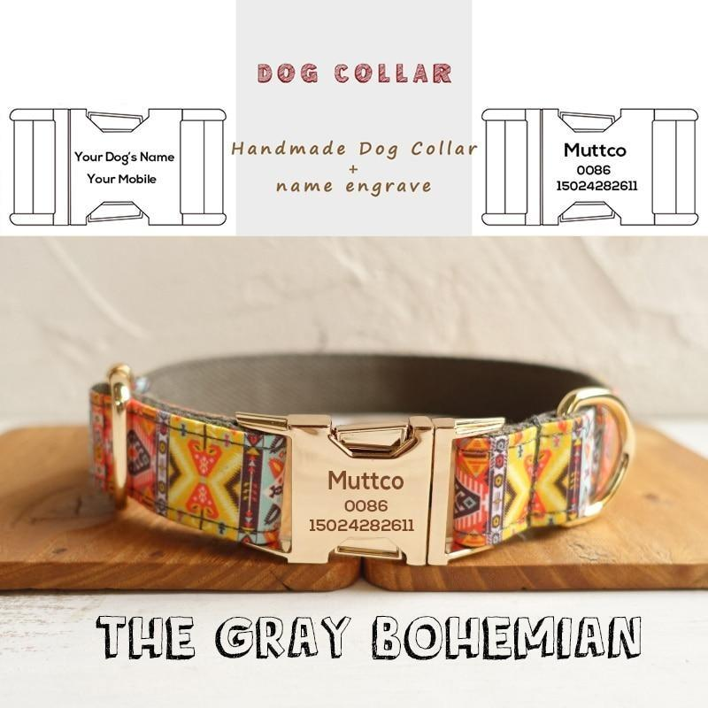 The Gray Bohemian Personalised Dog Collar - Shop & Dog
