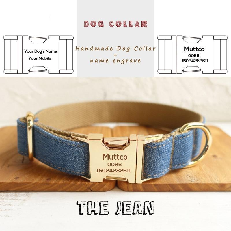 The Jean Personalised Dog Collar - Shop & Dog