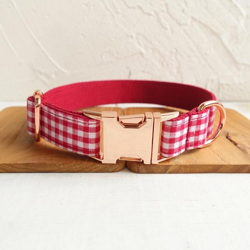 The Red Yummy Plaid Personalised Dog Collar - Shop & Dog