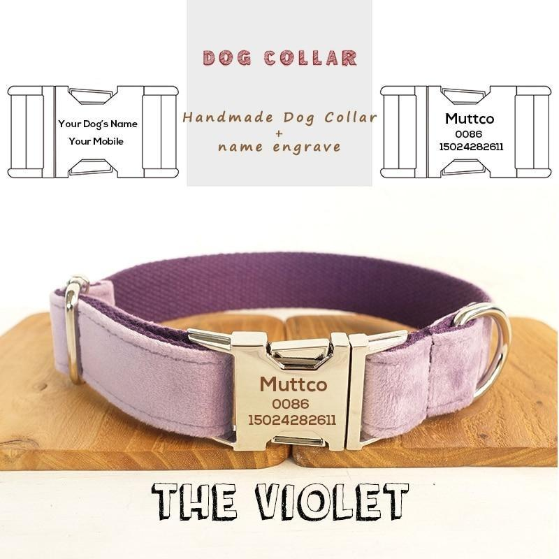 The Violet Personalised Dog Collar - Shop & Dog