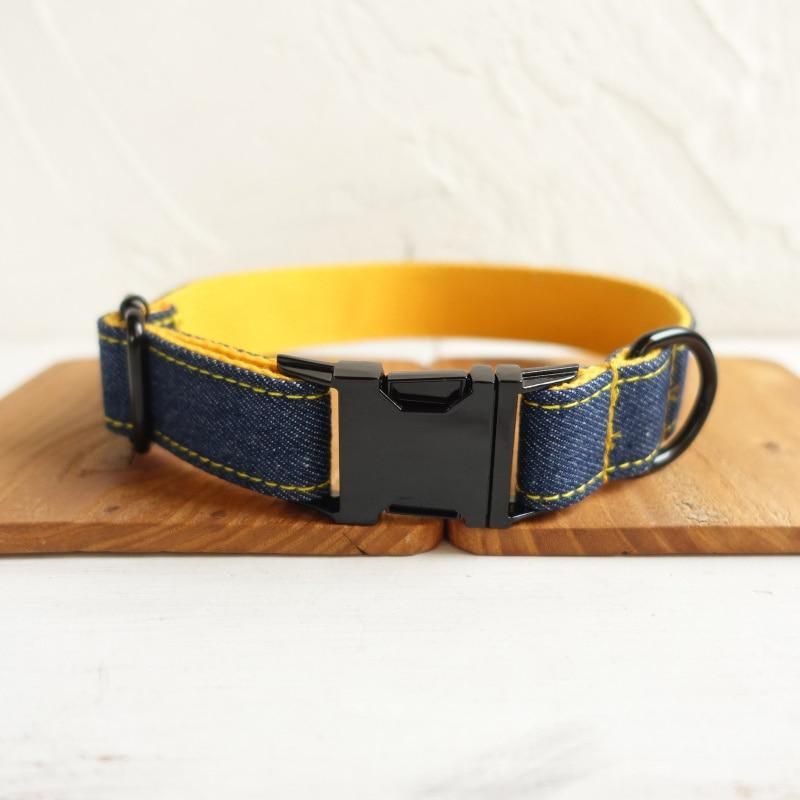 The Yellow Jean Personalised Dog Collar - Shop & Dog