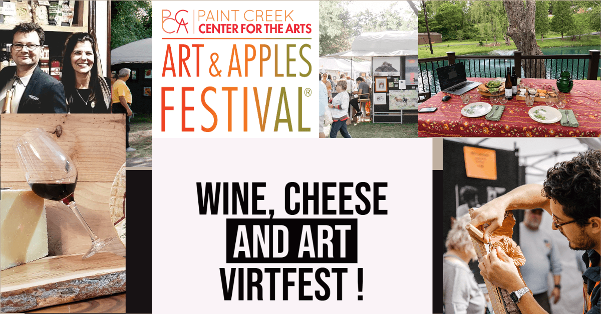 9-11 Virtual Wine and Cheese Tasting Art Festival