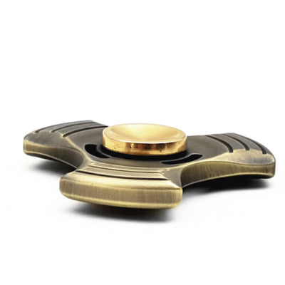 Steel and Gold Anti-Stress Fidget Spinner - GenZenTech