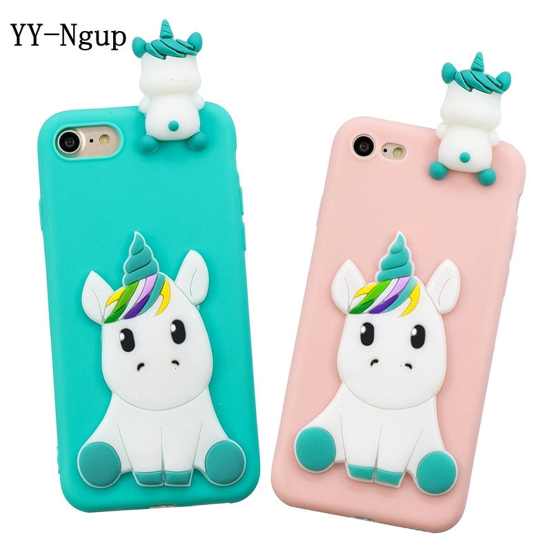 premium selection 55a14 42be9 3D Peeping Unicorn Silicon iPhone Case
