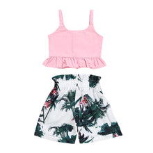 Load image into Gallery viewer, Pink Summer Tank Top W/Casual Floral Shorts Set