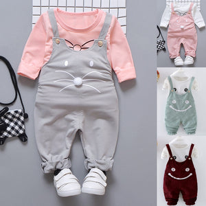Cute Cat Overall Set