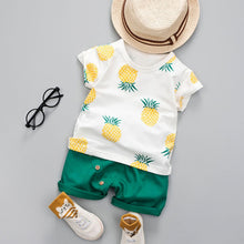 Load image into Gallery viewer, Pineapple T-shirt Short Set