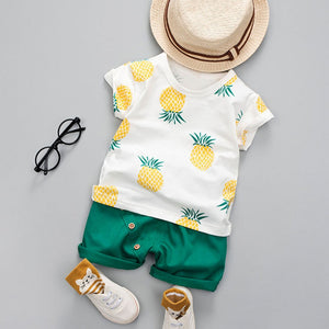 Pineapple T-shirt Short Set